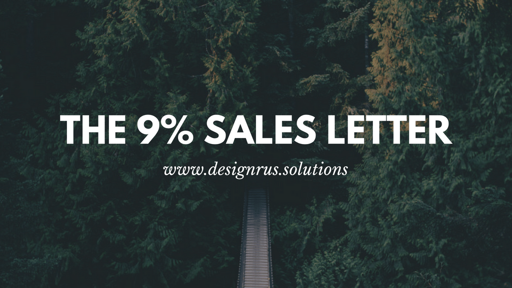 The 9% Sales Letter